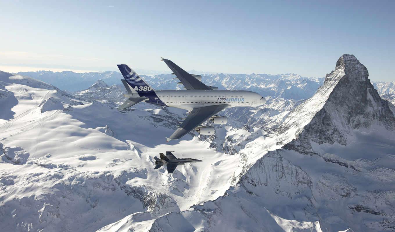 самолёт, авиация, горы, самолеты, самолета, горах, гор, airbus, пассажирский, гражданская,
