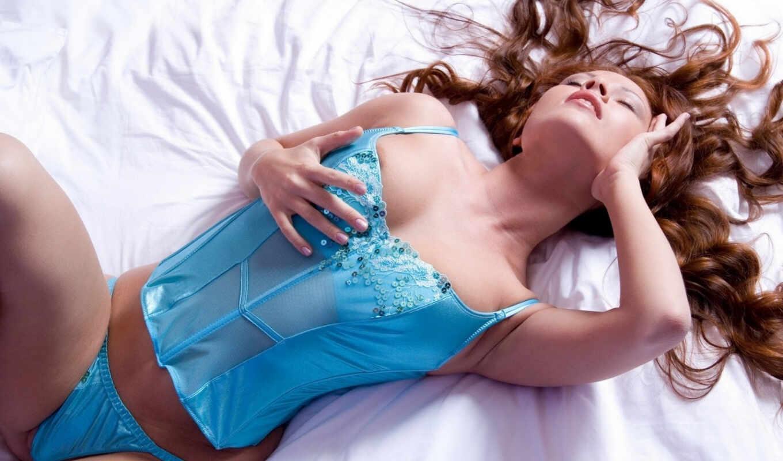 lingerie, модель, sexy, deviation, blue, redhead