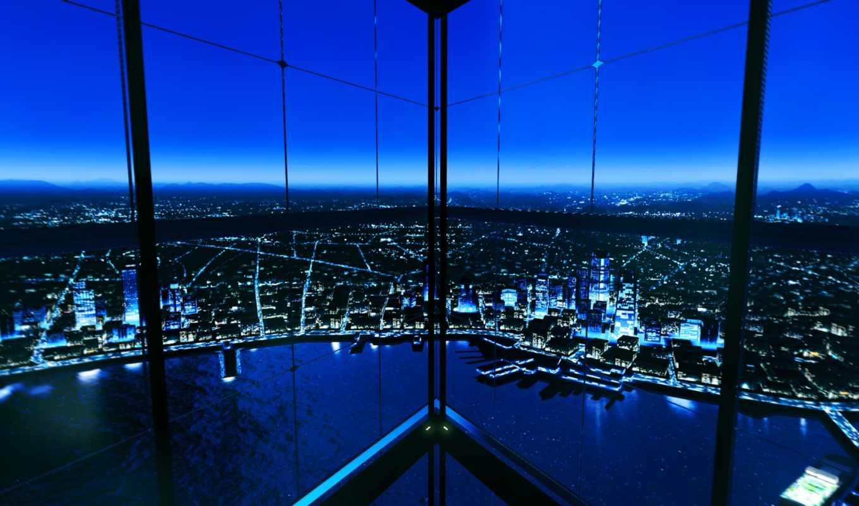landscapes, окно, ночь, cityscapes, panes, high, clouds,