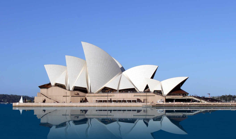 sydney, opera, house, мира, театр, австралии, красивый, город,
