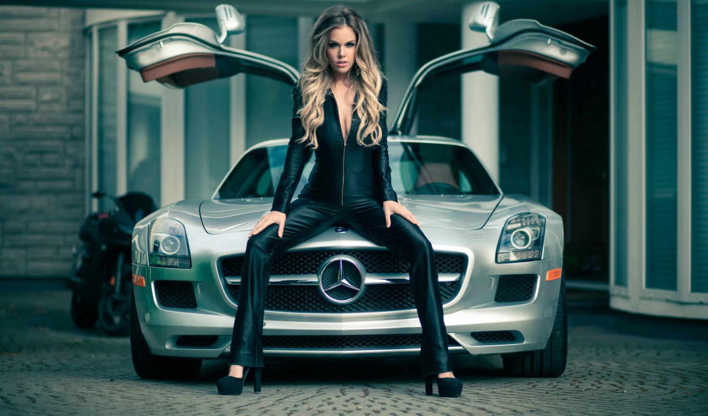 mercedes, car, девушка, модель, exotic, gorgeous, sls, джейсон, heidi, картинка, elsa,