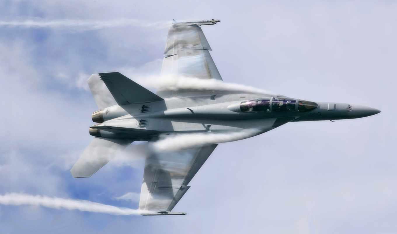 самолёт, истребитель, hornet, небо, сша, авиация, oblaka, boeing, реактивный, военный,