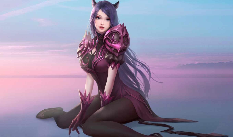 anime, девушка, art, fantasy, feline, серьги, artist, cartoon, japanese, digital