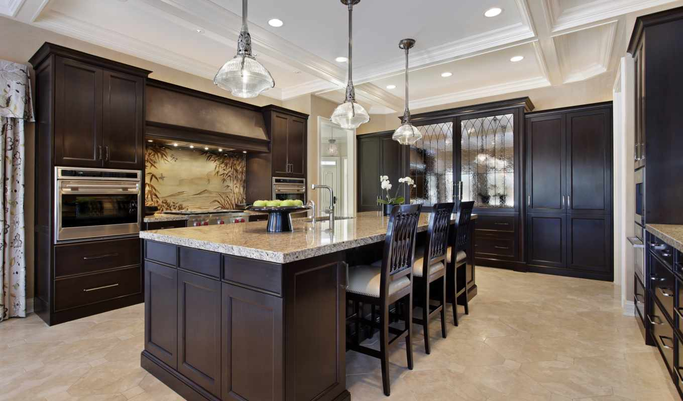kitchen, dark, cabinets, with, gh, wood, white, custom, kitchens, traditional,