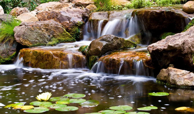 водопады, природа, tapety, samsung,