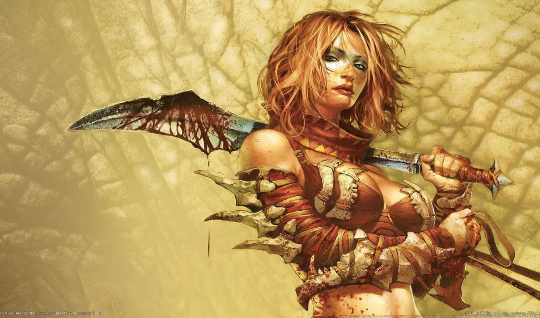 devushki, fantasy, фэнтези, воин, город, войны, пейзажи -, природа, картинка, макро, красивые,