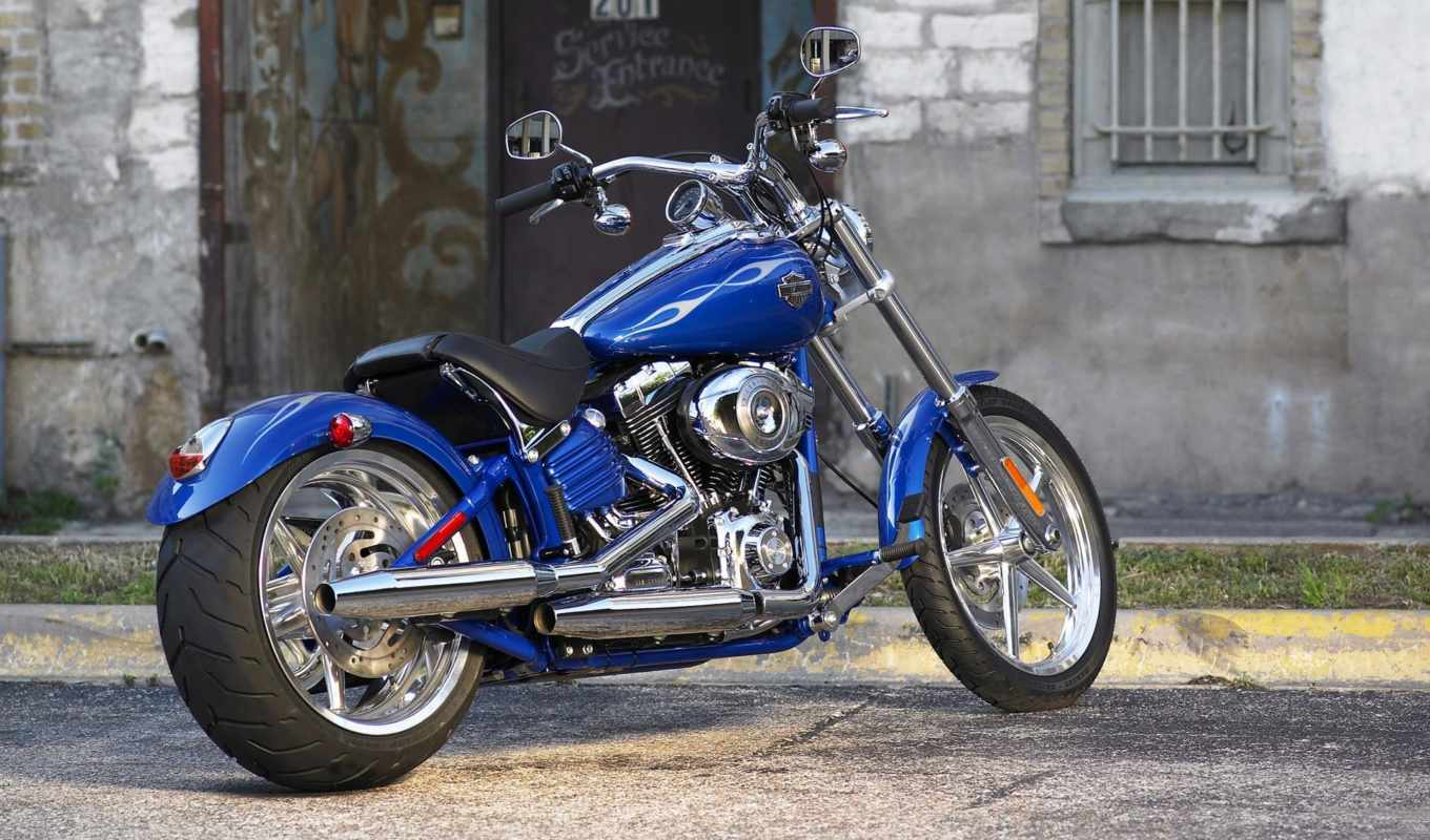harley, davidson, bikes, bike, blue, pictures, colour, rocker, fxcwc,