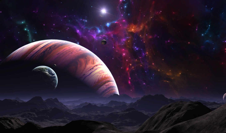 космос, планеты, звезды, картинка, ort, планета, картинку, ein, гигант, газовый, галактика, звезда, вселенная, поверхность, der, ландшафт, горы,