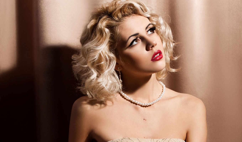 макияж, blonde, помады, блондинок, красной, красная, яркая, помада, если, глаз, глазами, помаду, красную, девушки,