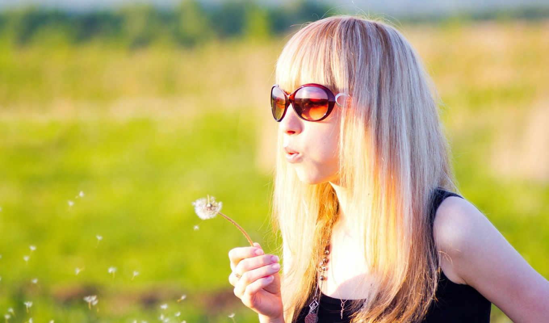 летом, блондинок, девушек, blonde,