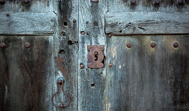 дверь, янв, макро, замок, же,
