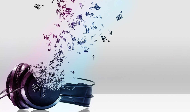 музыка, наушники, ноты, исполнитель,