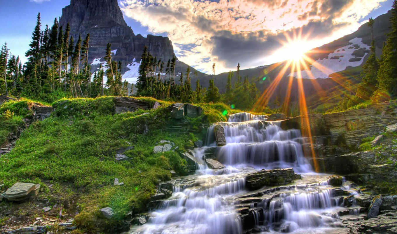 cachoeira, paisagem, lindas, водопад, paisagens, por,