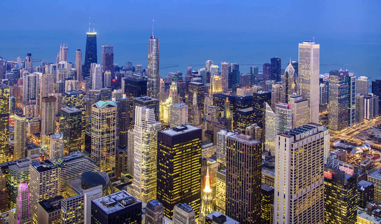 chicago, usa, иллинойс, город,