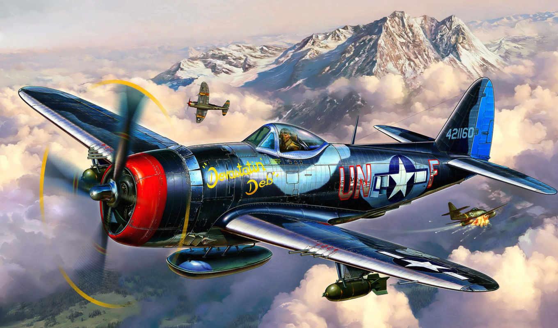 revell, thunderbolt, истребитель, модель, бомбардировщик,  p-47,