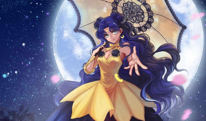 луна, моряк, anime, senshi, bishoujo, art,