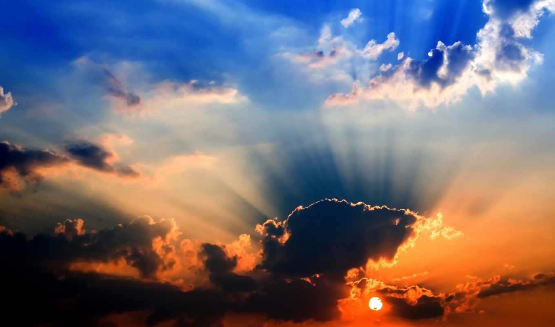 обои, закат, красивые, природа, фото, солнце, небо