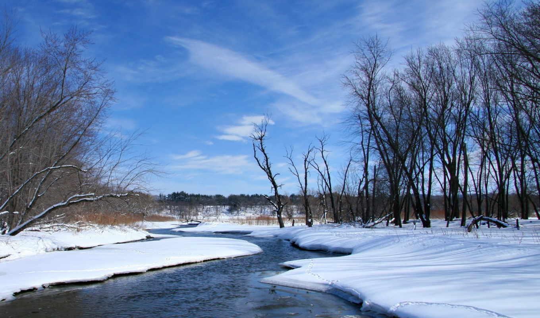 весна, река, снег, landmark, landscapes, nature, winter, streams, рисунки,
