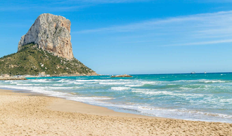 пляж, ipad, cliff,