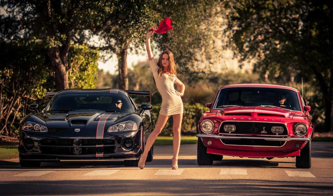mustang, ford, car, shelby, девушка, dodge, girls, viper,