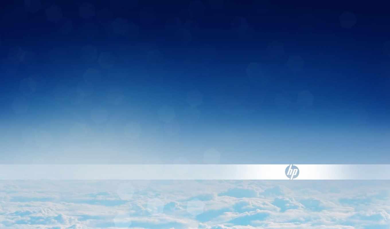 hp, logo, clouds, desktop, hewlett, packard,
