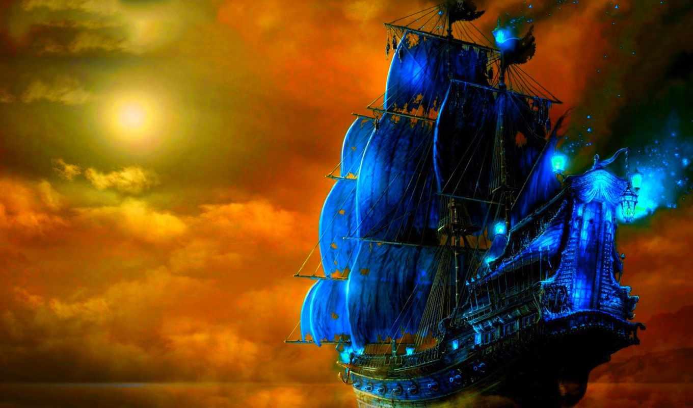 корабли, парусные, korabl, voda,
