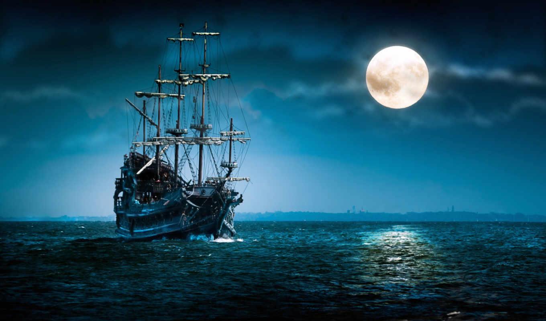 корабли, автора, вышивки, под, названием, схема, представлена, galitski, fantasy,