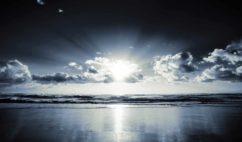 ocean, берег, blue, browse, море, побережье, sunlight, tinted,
