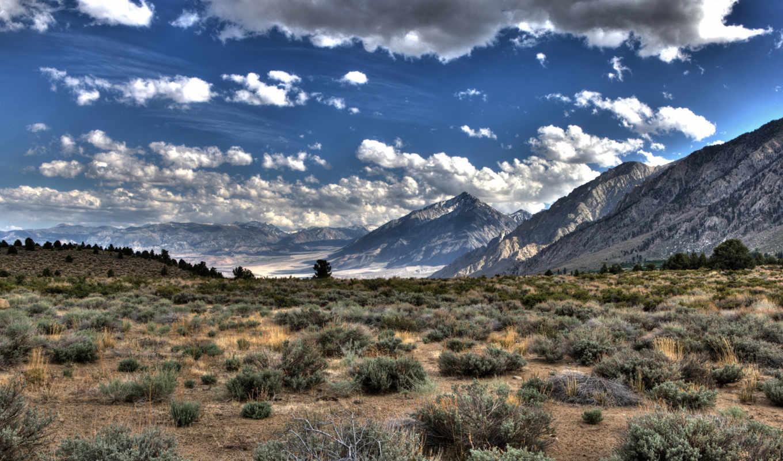 горы, облака, трава, равнина, hdr, hd, wallpaper, ландшафт, природа,