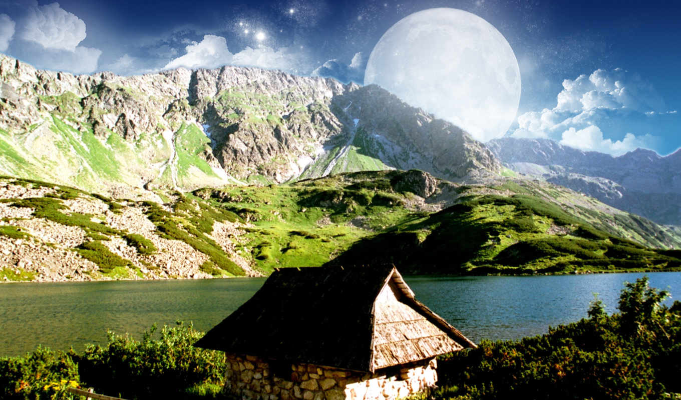 mountain, dreamy, desktop, природа, луны, image, click, широкоформатные, tweet, owall, mac, мой, how, download, восход,