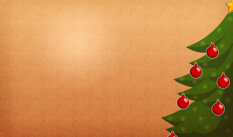 год, новый, минимал, шарики, елка,