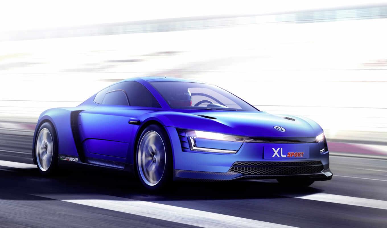 xl, спорт, volkswagen, concept, car, ducati, париж, vw, показать,