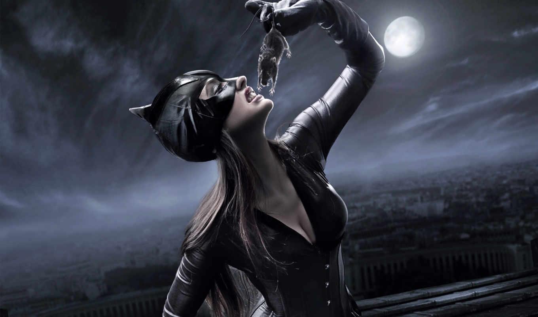 кот, женщина, fantasy, масть, фоны, catwoman, mouse, маска, ночь, луна, alcatel,
