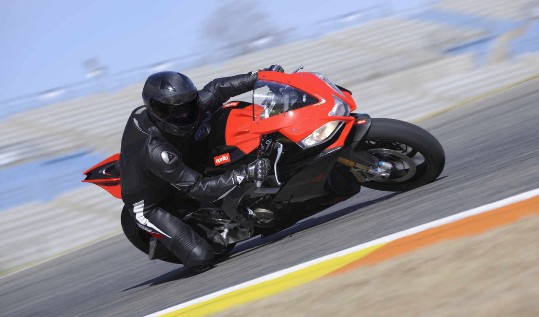 красный, дорога, мотоцыклист, мотоцикл,