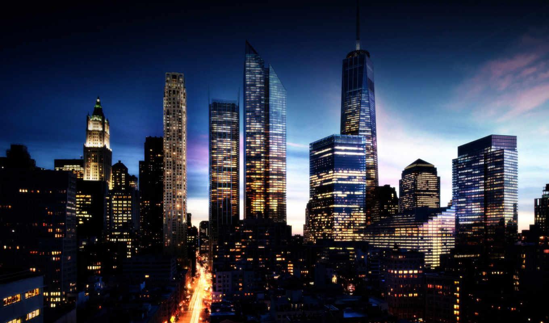 город, ночь, browse, здания, города, городов, улица,