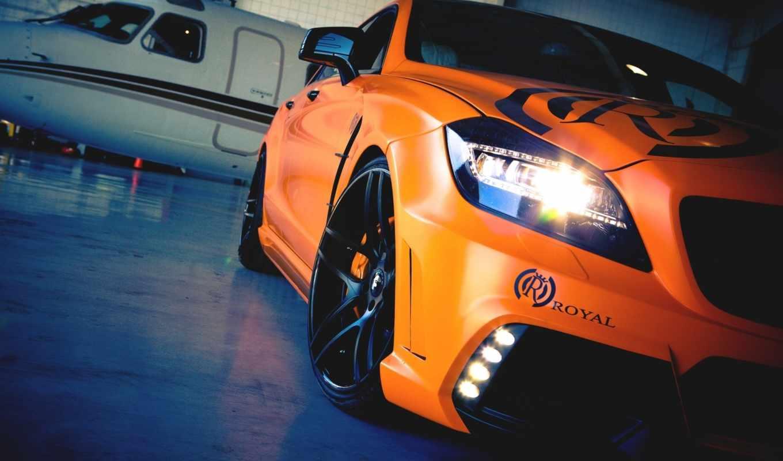 оранжевый, машины, авто, тюнинг, cls, мерседес, mercedez, самолеты, самолёт,