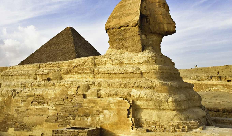 сфинкс, giza, great, египет, пирамида, контрастов,