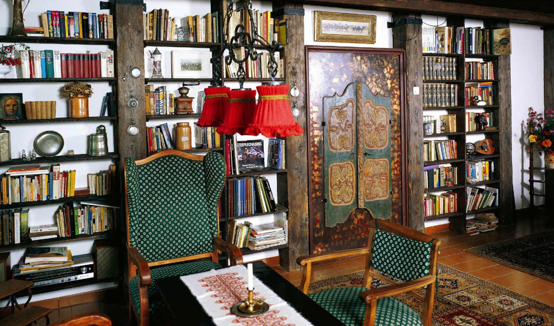 interer, библиотеки, библиотека, домашней, домашняя, интерьера, част,