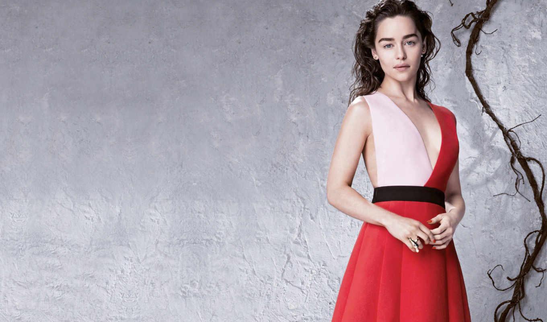 emilia, clarke, платье, red, mobile, sexy, you,