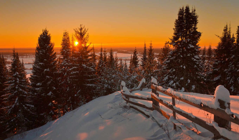 bosque, winter, pantalla, настроение, снег, landscape, девушка, foto, закат, invierno