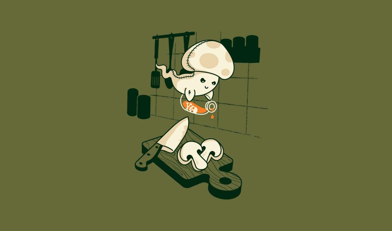 минимализм, гриб, доска, призрак, яд,