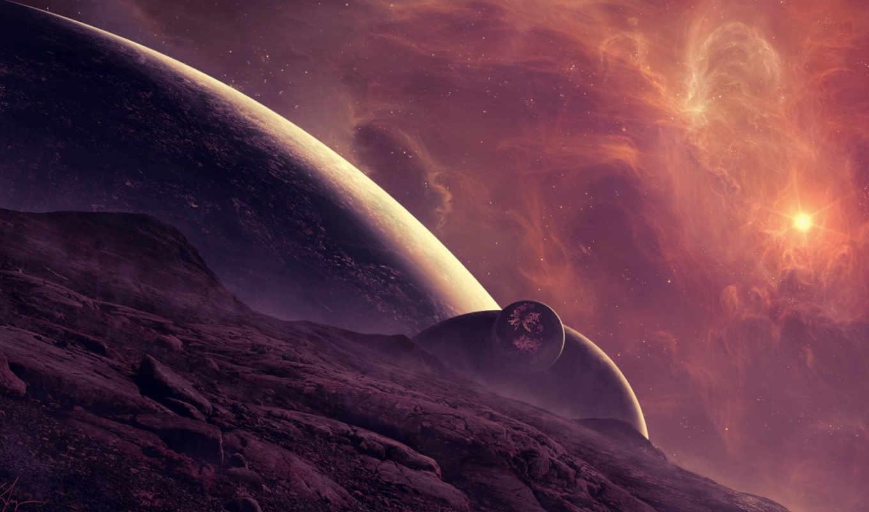 космос, art, nebula,