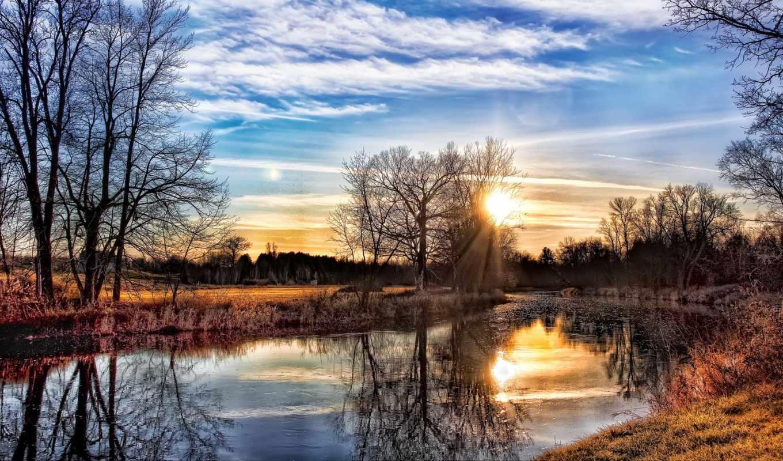 весна, закат, дорога, choose, красивые, trees, разрешением, количество, лесу,