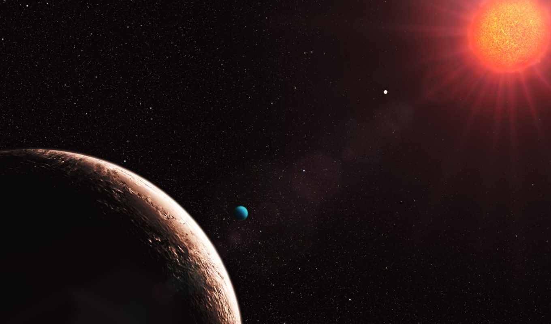 gliese, planeta, que, космос, eso, fondo, vida, pantalla, une, картинку, exoplaneta, digital, planetas, est, sistema, planètes, discovered, terra, calçada, planet,