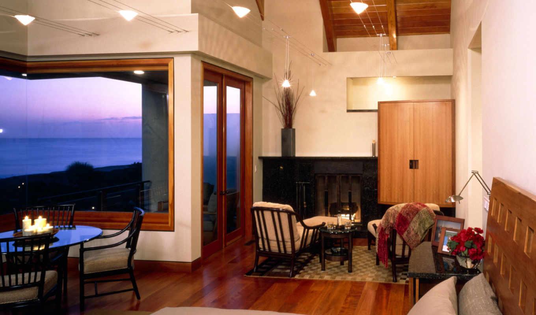 комната, море, дизайн, видом, интерьер, архитектурное, просмотреть, комнаты, интерьеры, комнат, паркет,