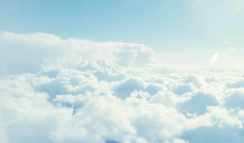 облака, небо,