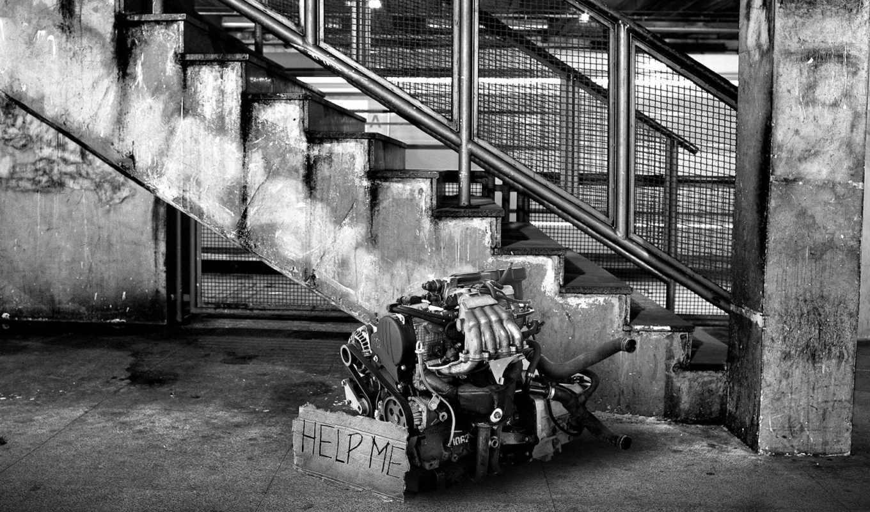 engine, чёрно, motor, помощь, лестница,
