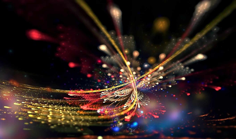 линии, свечение, завораживающее,