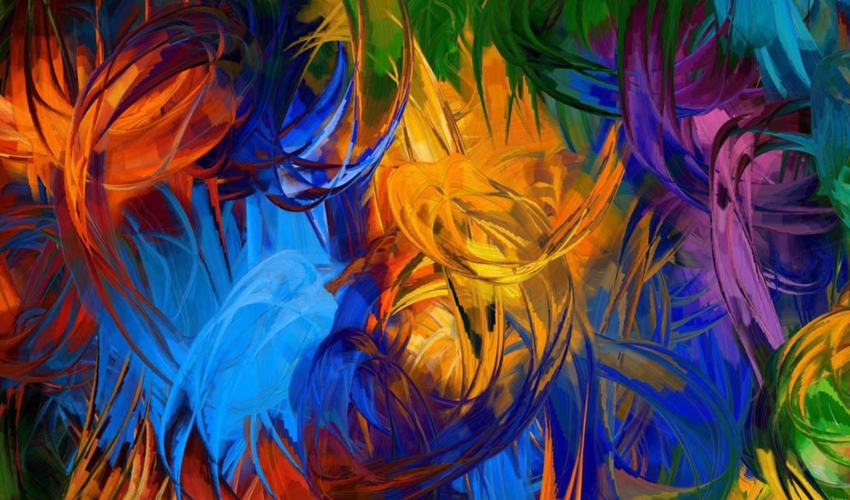 краски, abstrakciya, кисть,