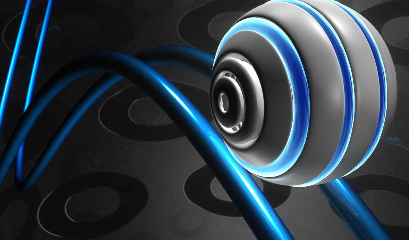 3d, roller, abstract, blue, grey